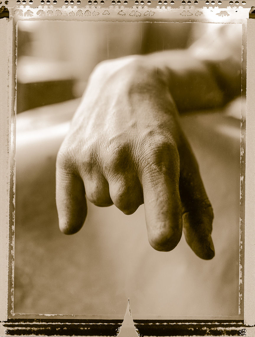 Kurdish portrait of metal workers hand,  Konya, Turkey.