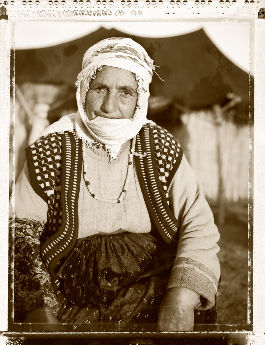 Kurdish portrait of older nomadic village woman, near Van Turkey
