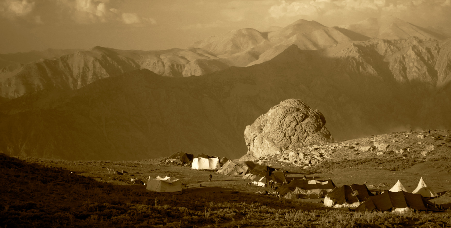 Remote mountain nomadic village, Syrian Border