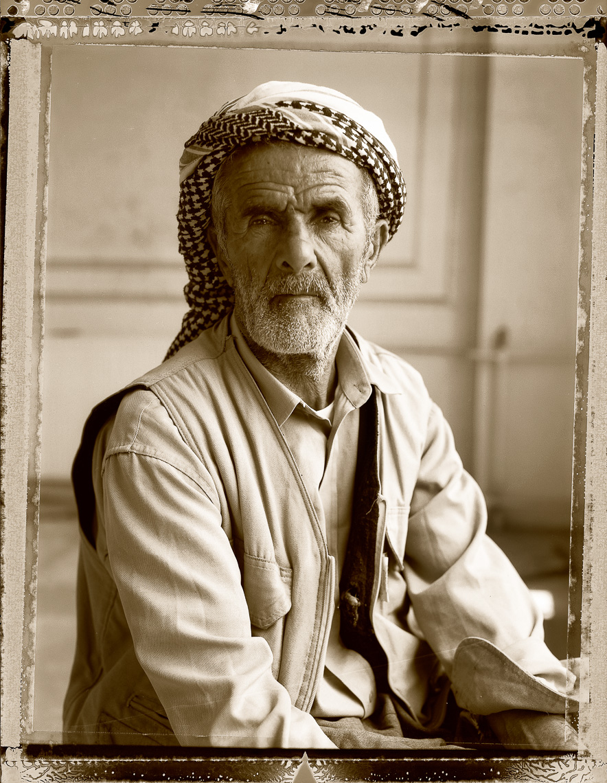 Kurdish portrait of older village elder, in Van, Turkey