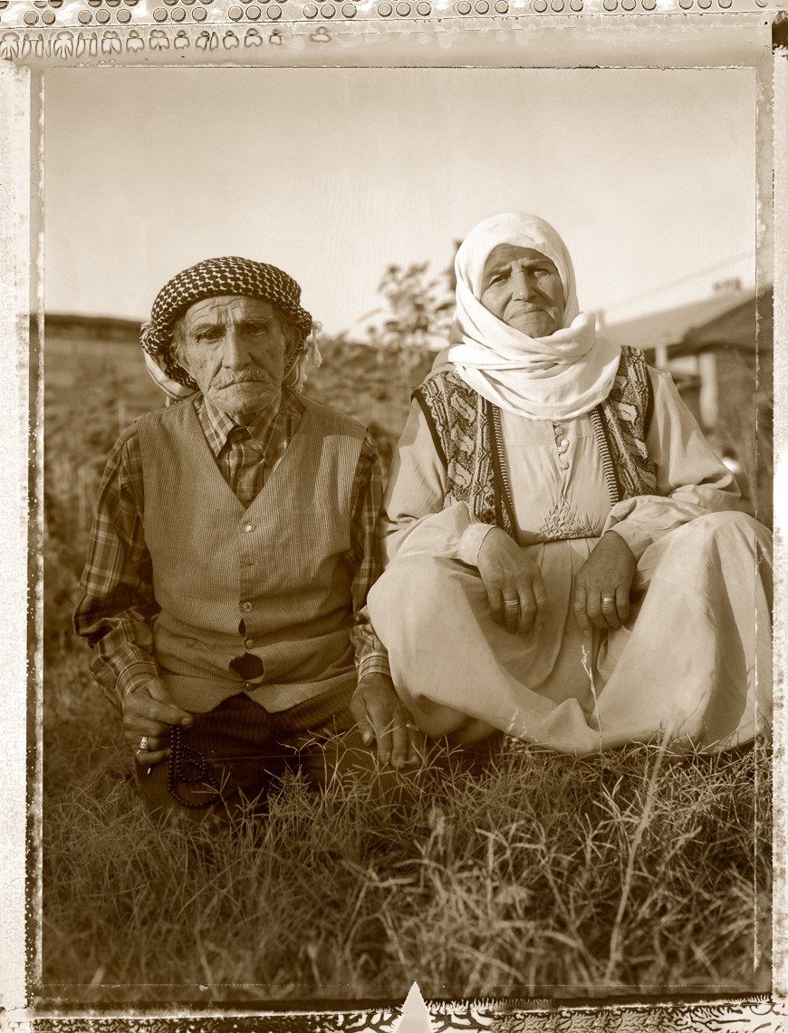 Kurdish portrait of older couple, outside Van, Turkey.