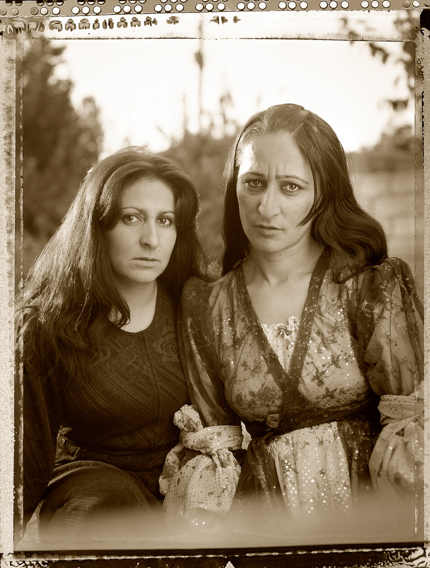Kurdish portrait of sisters in Van, Turkey.