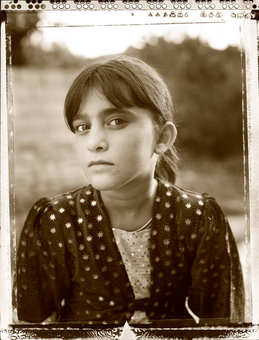 Kurdish portrait of little girl,  Zosdar in Van, Turkey.