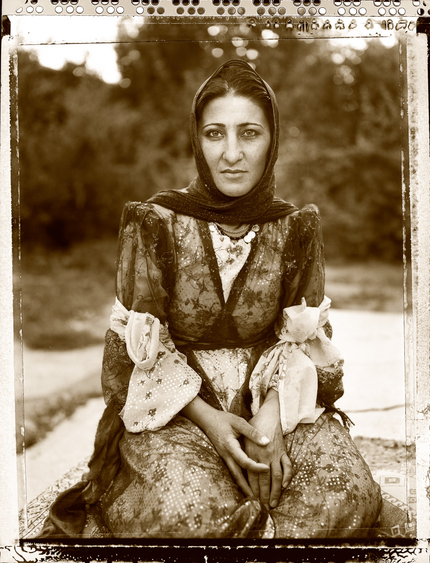 Kurdish portrait of woman in formal dress, Van, Turkey.
