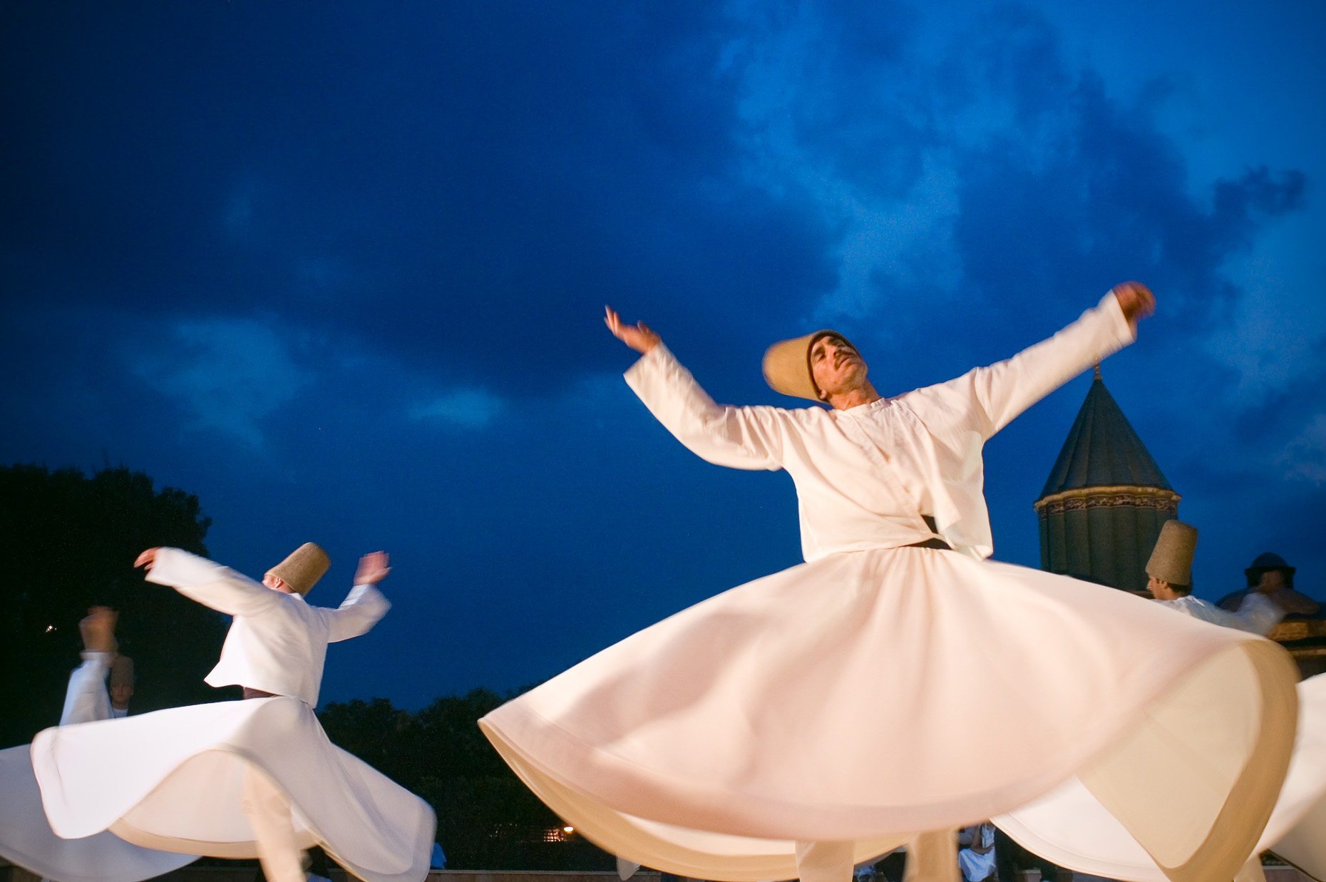 Whirling Dervishes at Mevlani Sufi Mosque in Konya Turkey