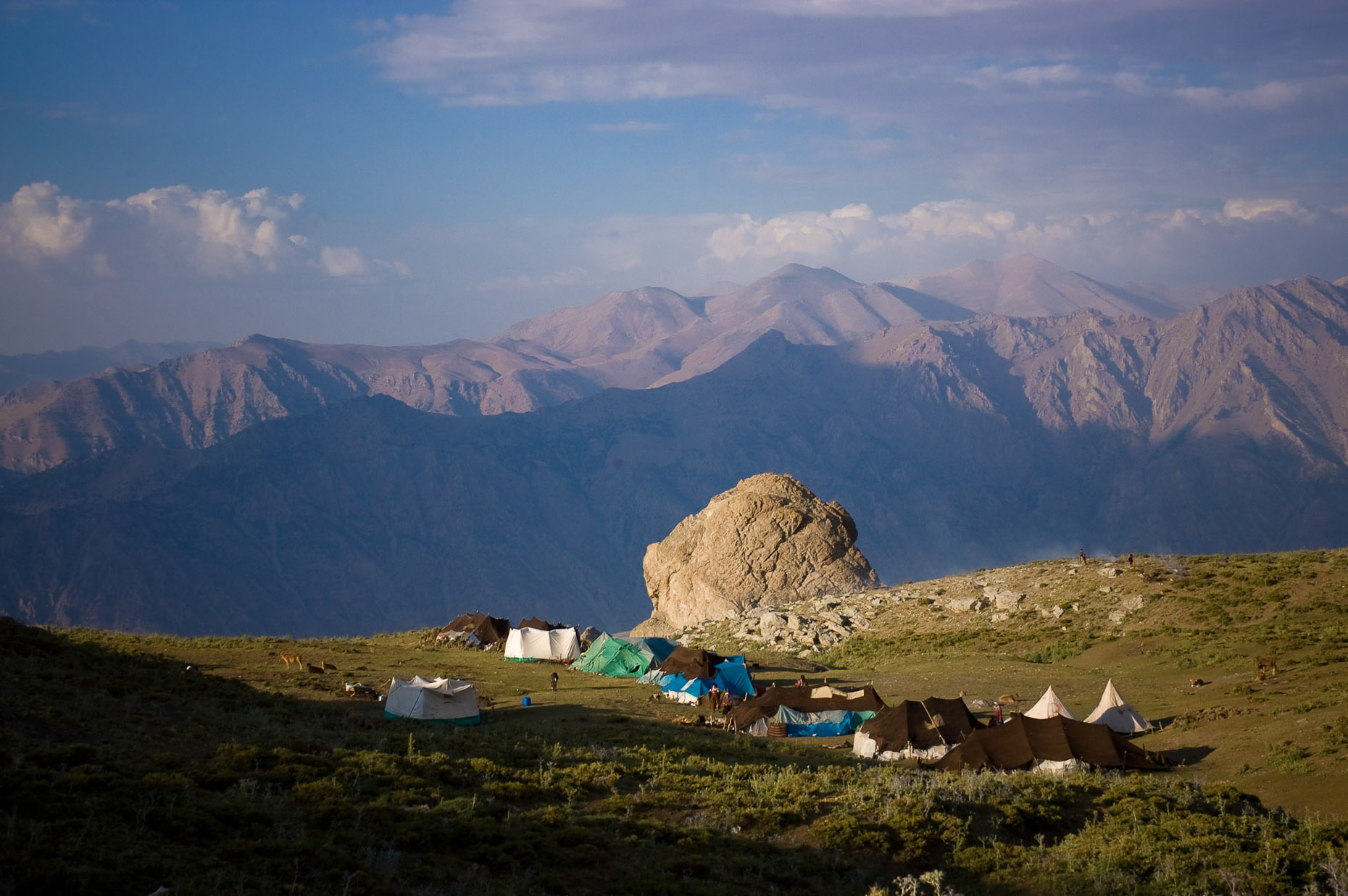 Landscape image of high remote Kurdish nomadic village near Syrian Boarder, Turkey.