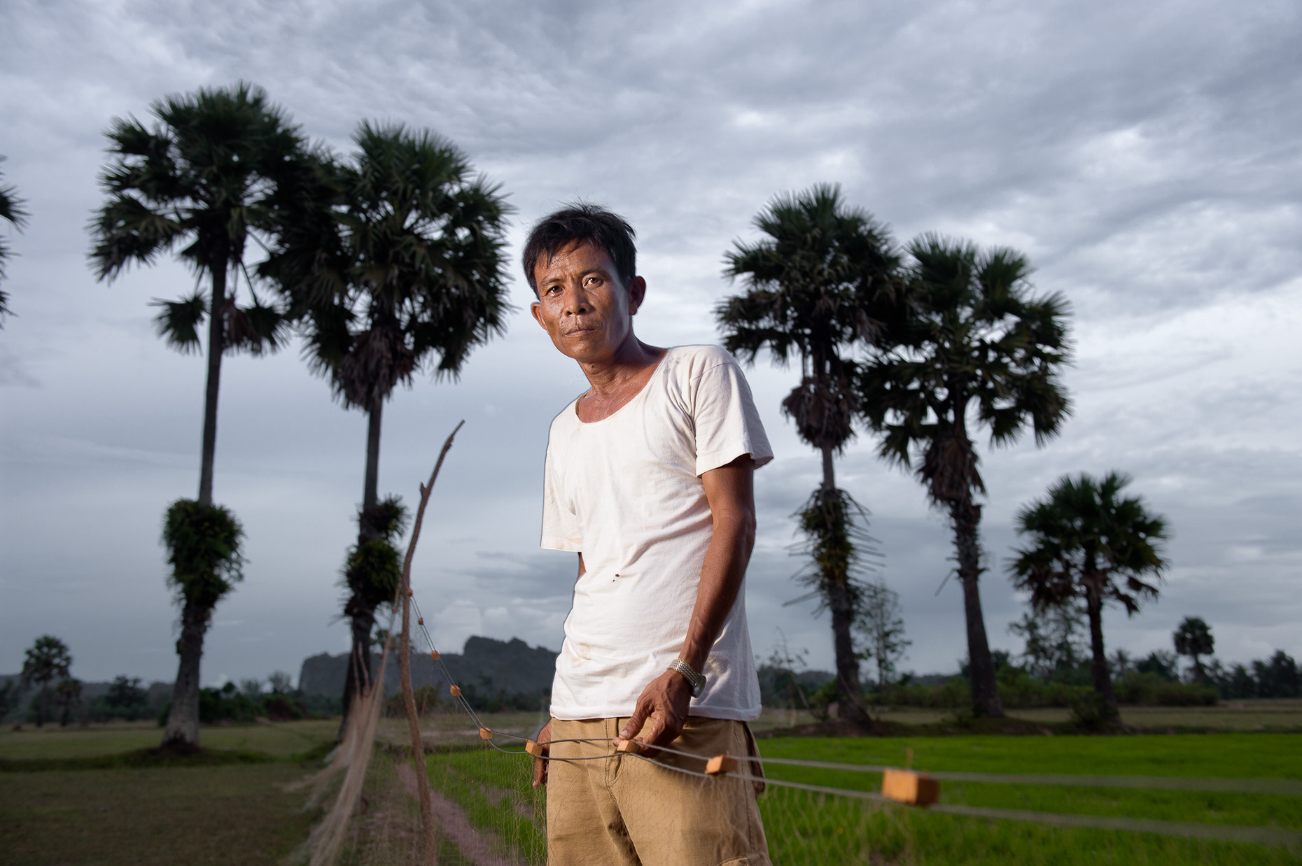 Environmental portrait of Khmer Rouge survivor Seng Thy